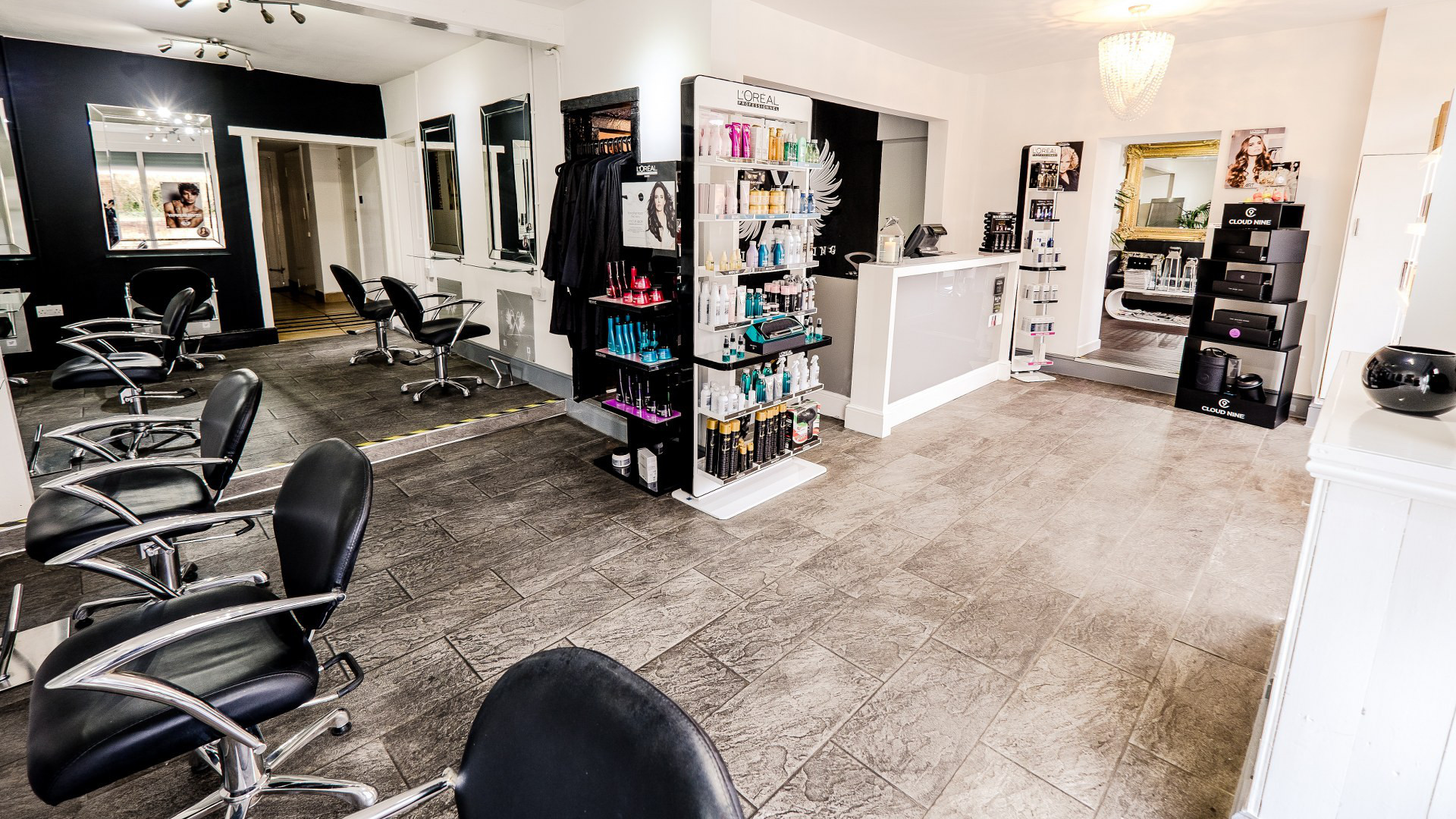 Fox Hairdressing - Cutting Chairs and Entrance